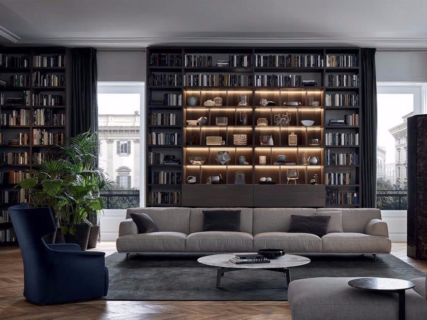 Sectional fabric sofa TRIBECA | Fabric sofa by poliform