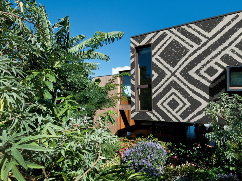 Motif geometric outdoor wallpaper TRIBU by Wall&decò