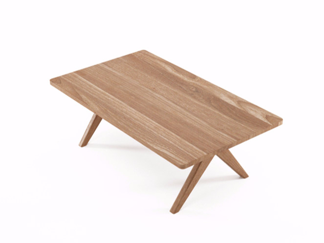 Rectangular teak coffee table TRIBUTE TB02-T by KARPENTER