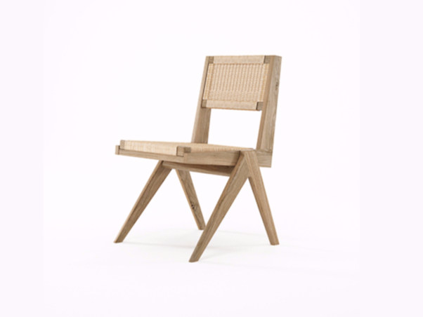 Rope and oak chair TRIBUTE TB06-O by KARPENTER
