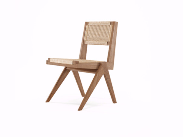 Rope and teak chair TRIBUTE TB06-T by KARPENTER
