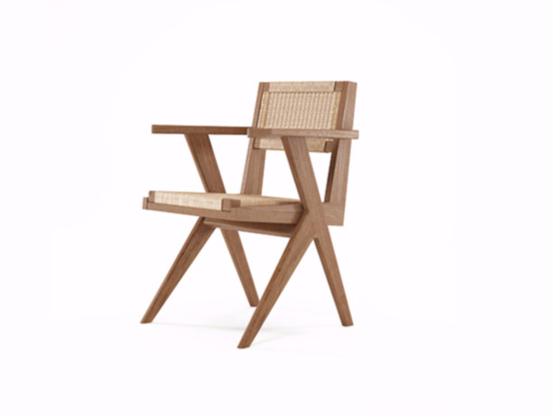 Reclaimed Teak Arm Chair with Woven Danish Paper Cord TRIBUTE | Chair by KARPENTER