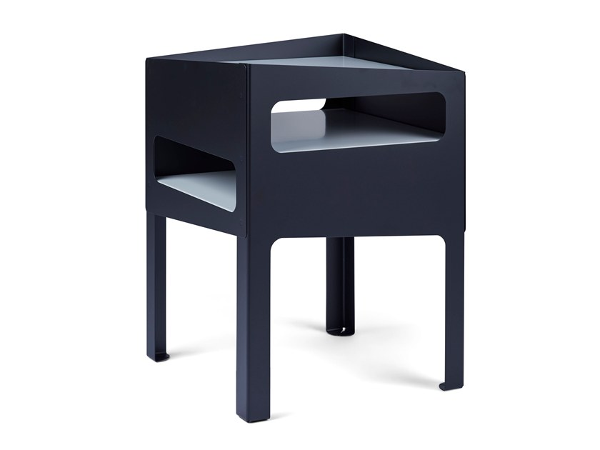 Side table TRICK TABLE BLACK/ GREY by Gejst