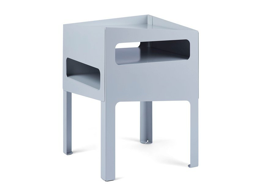 Side table TRICK TABLE GREY/ GREY by Gejst