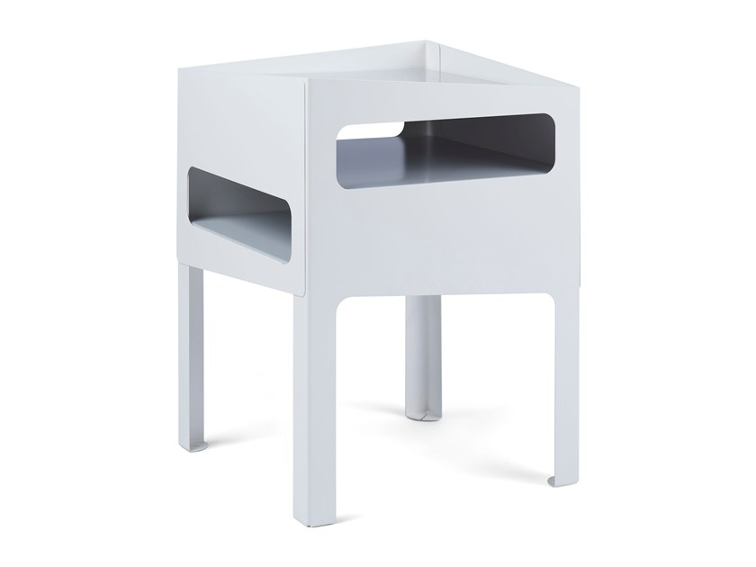 Side table TRICK TABLE WHITE/ GREY by Gejst