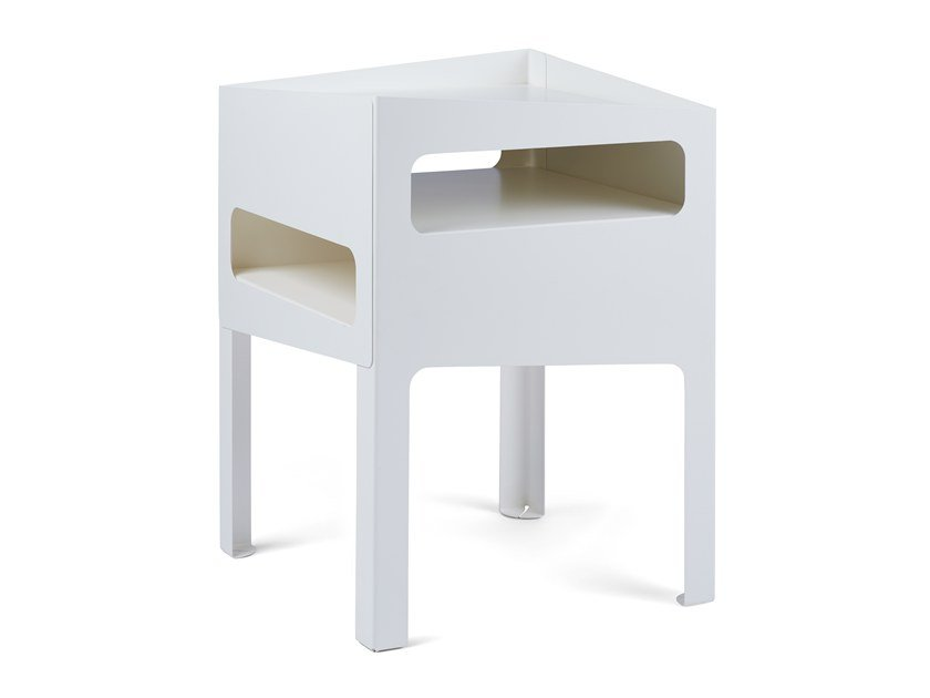 Side table TRICK TABLE WHITE/ WHITE by Gejst