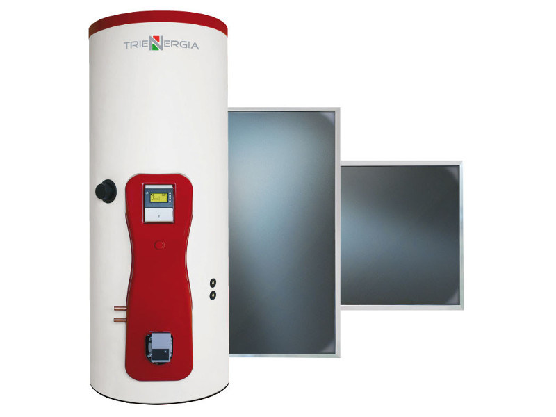Forced circulation Solar heating system TRIENERGIA ACS - PDC - PI25 300-500 lt by Coenergia