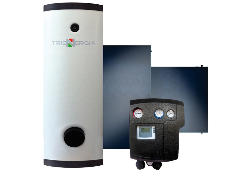 Forced circulation Solar heating system TRIENERGIA EXTRA ACS-PDC-PI20 800-2000lt by Coenergia
