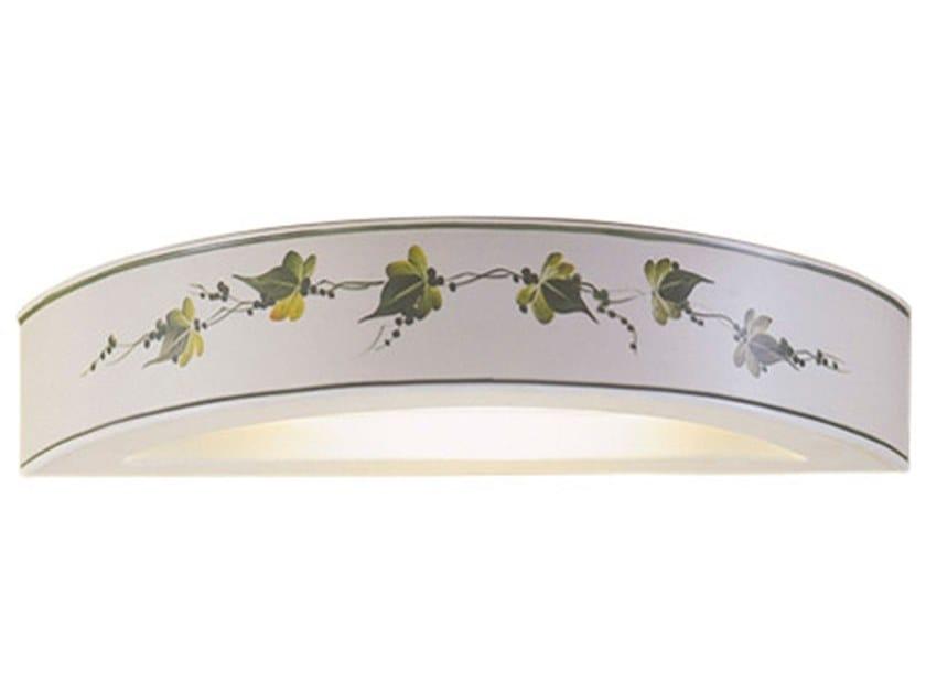 Direct-indirect light ceramic wall light TRIESTE | Direct-indirect light wall light by FERROLUCE