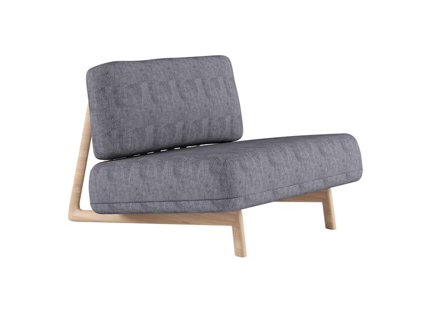 Gepolsterter Sessel aus Stoff TRIGONO ARMCHAIR - D10 by Alias