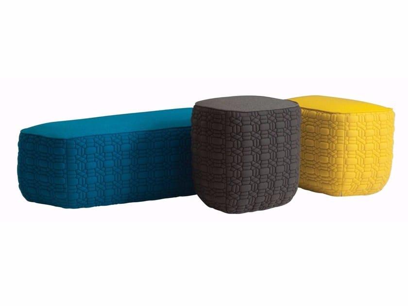 Fabric pouf TRILOGIE | Fabric pouf by ROCHE BOBOIS