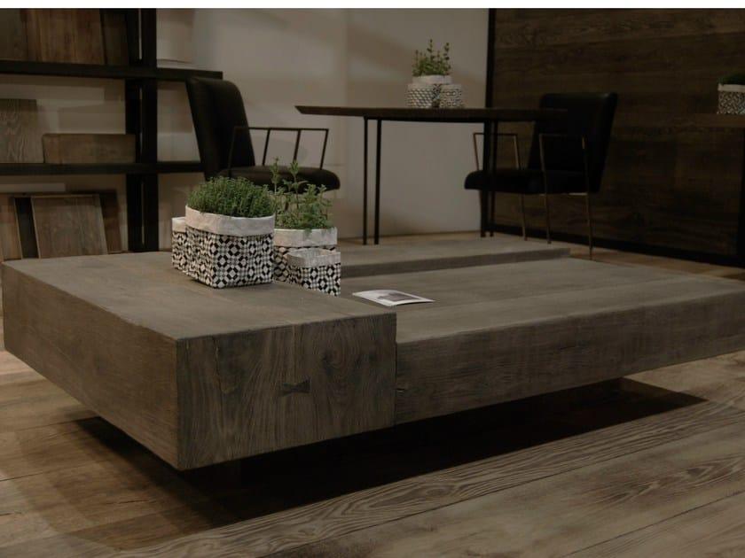 Low oak coffee table TRIPLÉ by CABUY D.