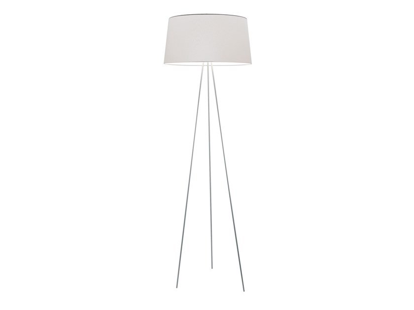 Fabric floor lamp with dimmer TRIPOD | Floor lamp by KUNDALINI