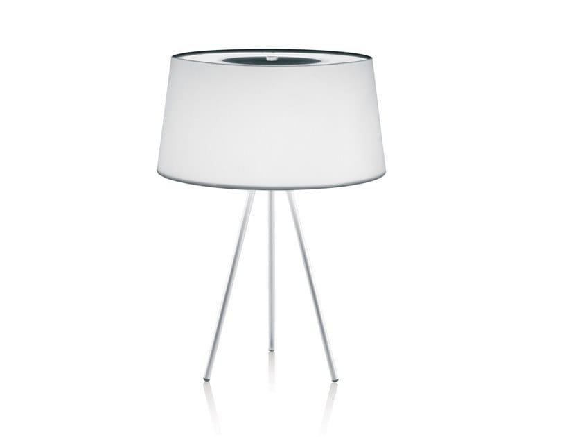 Lámpara de mesa de tela TRIPOD | Lámpara de mesa by KUNDALINI