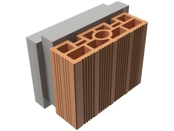 Loadbearing clay block TRIS® 16X25X19 by T2D