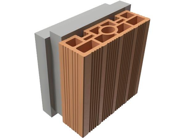 Loadbearing clay block TRIS® 16X25X25 by T2D