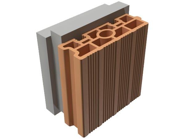 External masonry clay block TRIS® 16X25X25 by T2D