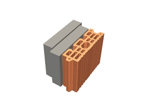 Thermal insulating clay block TRIS® 18X26X19 by T2D