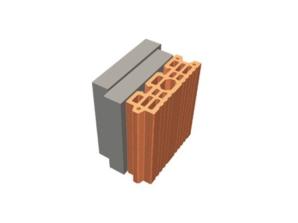 Thermal insulating clay block TRIS® 18X26X24 by T2D