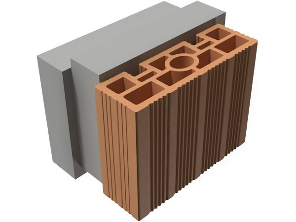 Loadbearing clay block TRIS® 20X25X19 by T2D