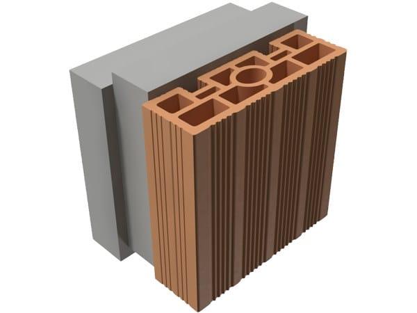 Loadbearing clay block TRIS® 20X25X25 by T2D