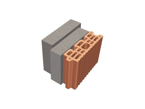 Thermal insulating clay block TRIS® 20X26X19 by T2D