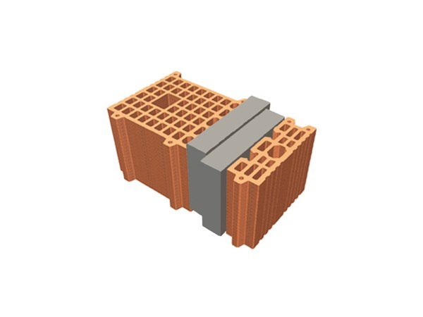 Thermal insulating clay block TRIS® 42X26X19 by T2D