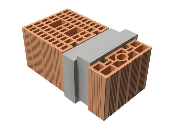 Loadbearing clay block TRIS® 45X25X19 by T2D