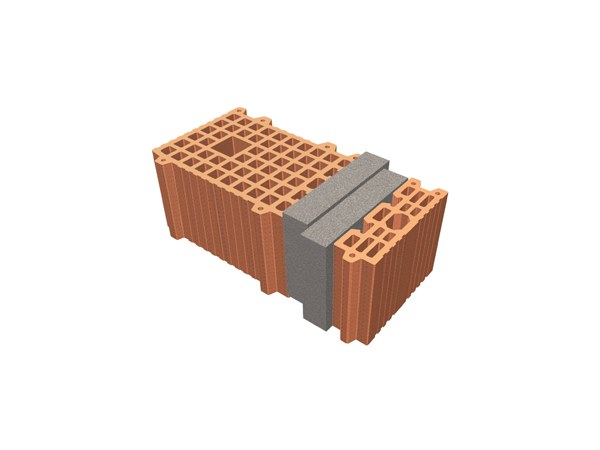 Thermal insulating clay block TRIS® 48X26X19 by T2D