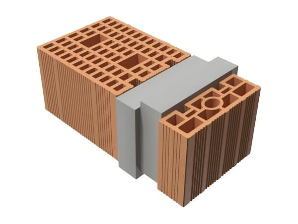 Loadbearing clay block TRIS® 50X25X19 by T2D
