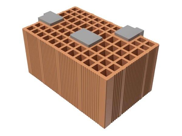 Loadbearing clay block TRIS® CORNER 39X25X19 by T2D