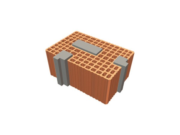 Thermal insulating clay block TRIS® 48X24X19 by T2D