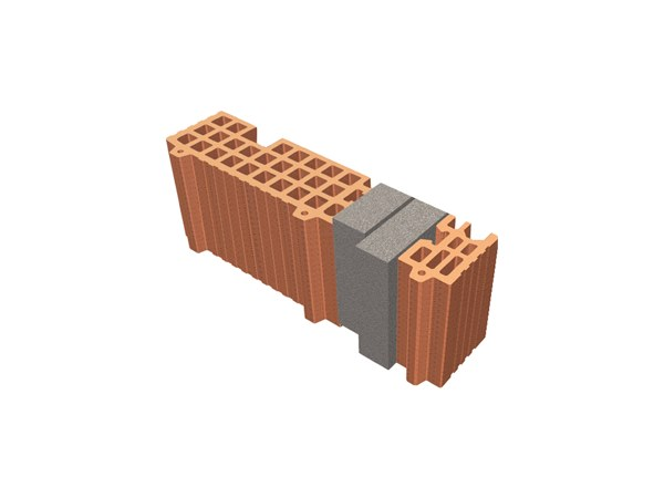 Thermal insulating clay block TRIS® 37X12X19 by T2D