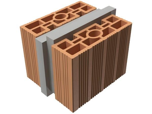 Loadbearing clay block TRIS® 22X25X19 by T2D