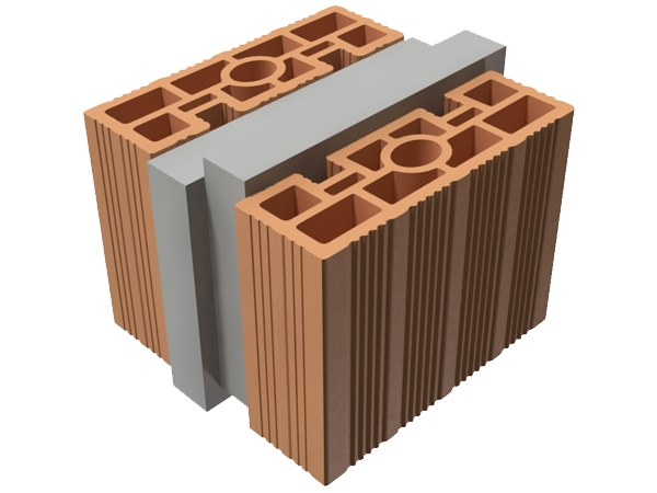 Loadbearing clay block TRIS® 24X25X19 by T2D