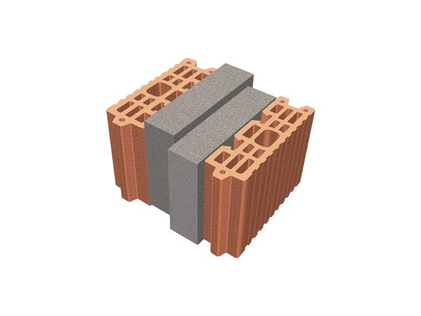 Thermal insulating clay block TRIS® 26X26X19 by T2D