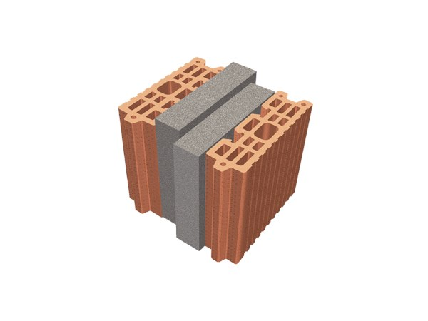 Thermal insulating clay block TRIS® 26X26X24 by T2D