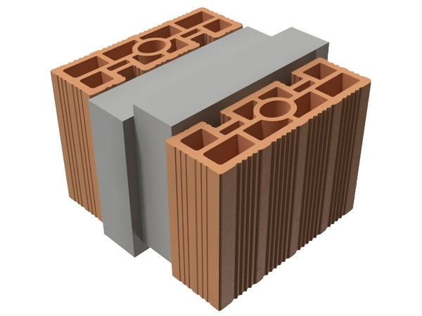 Loadbearing clay block TRIS® 28X25X19 by T2D
