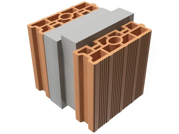 Thermal insulating clay block TRIS® 28X25X25 by T2D