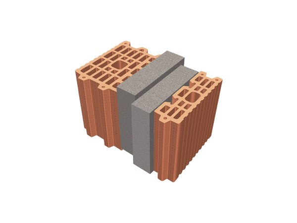 Thermal insulating clay block TRIS® 34X26X24 by T2D