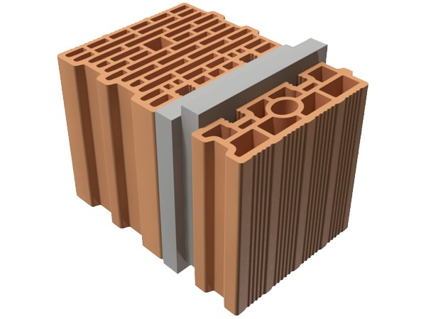 External masonry clay block TRIS® 35X25X25 by T2D