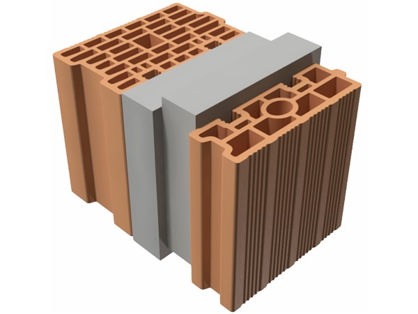 Thermal insulating clay block TRIS® 36X25X25 by T2D