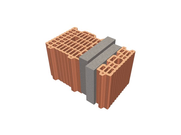 Thermal insulating clay block TRIS® 37X26X24 by T2D