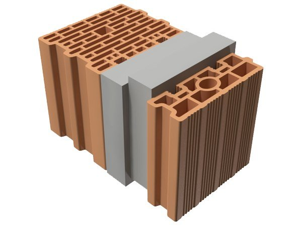Thermal insulating clay block TRIS® 41X25X25 by T2D