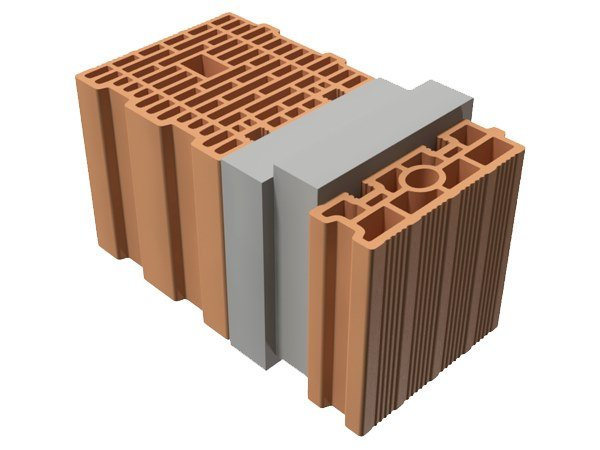 Thermal insulating clay block TRIS® 46X25X25 by T2D