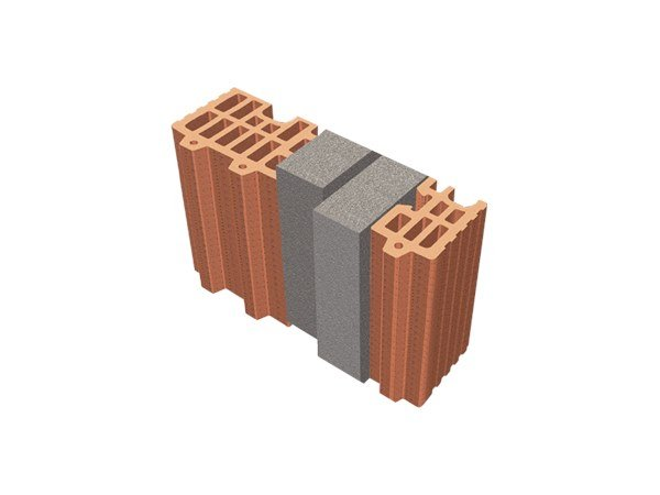 Thermal insulating clay block TRIS®  34X12X24 by T2D