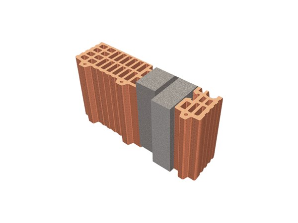 Thermal insulating clay block TRIS®  39X12X24 by T2D