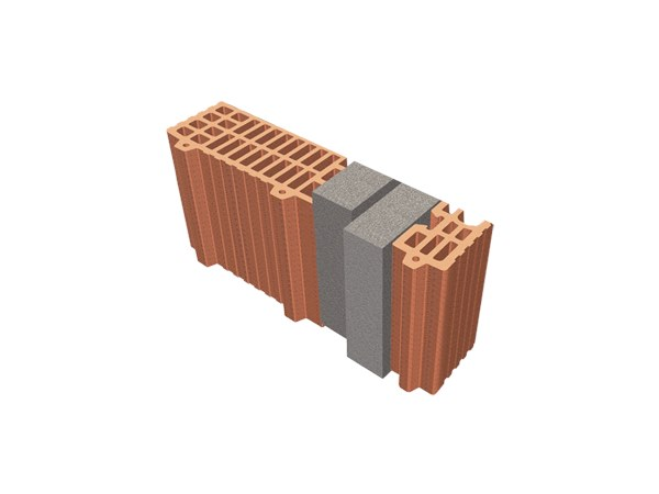 Thermal insulating clay block TRIS® 44X12X24 by T2D