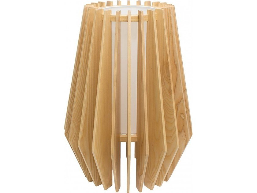 Wooden table lamp TROPE by Flam & Luce