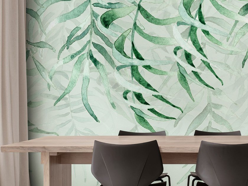 Ecological washable PVC free wallpaper TROPICAL RAIN by Wallpepper